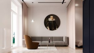 round-artwork-beige-sofa-soviet-minimalism-300x169 Minimalizm İle Boşluktan Huzura
