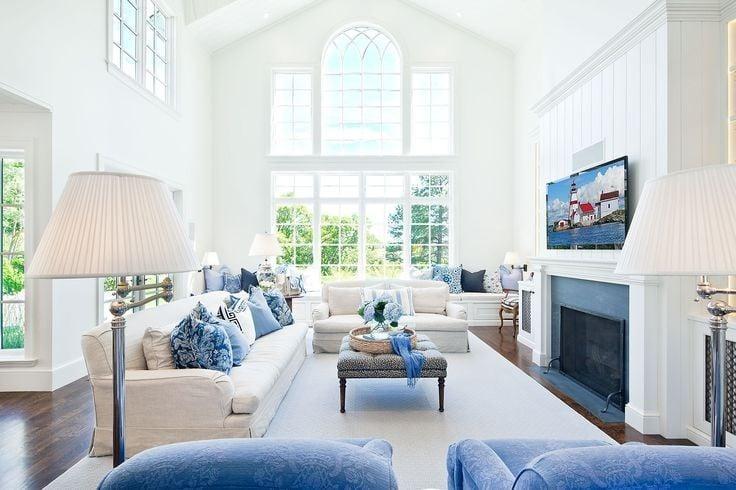 marina-salon-dekorasyonu Suların Mavi Aynası: Akdeniz Stili Dekorasyon